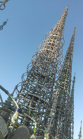 Watts Towers looking up